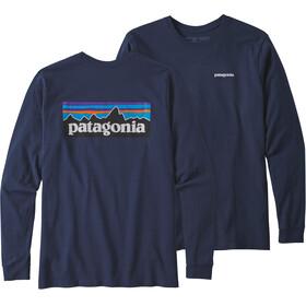 Patagonia P-6 Logo Responsibili - T-shirt manches longues Homme - bleu